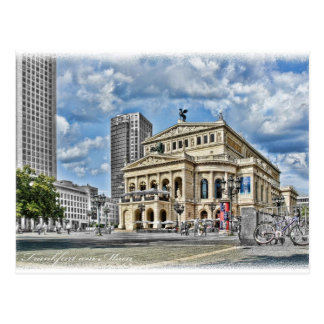 Opera Theatre in Frankfurt Postcard