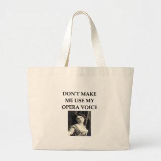 opera voice large tote bag