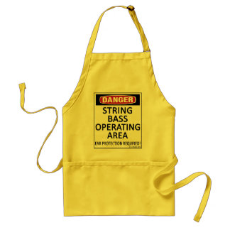 Operating Area String Bass Adult Apron