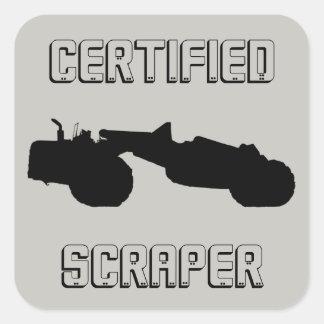 Operating Engineer Certified Scraper Hand Sticker