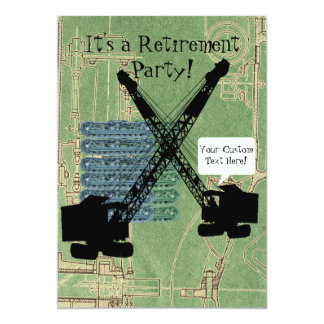 Operating Engineer Crane Operator Retirement Party Card