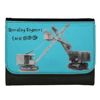 OPERATING ENGINEER CRANE OPERATOR SHOVEL VINTAGE WALLET FOR WOMEN