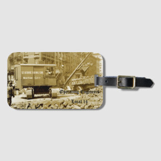 Operating Engineer New York City 1920's Crane Op Luggage Tag