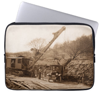 Operating Engineer Northwest Shovel Antique Photo Laptop Sleeve