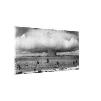 Operation Crossroads Event Baker explosion 1946 Canvas Print