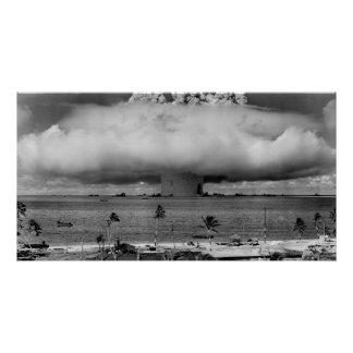 Operation Crossroads Event Baker explosion 1946 Poster