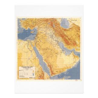 Operation Desert Storm Planning Map (1991) Customized Letterhead