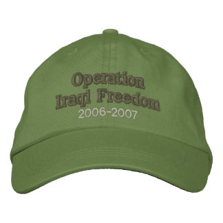 Operation Iraqi Freedom Embroidered Hat