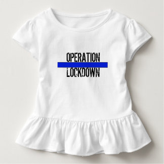 "OPERATION LOCKDOWN Toddler ""Flower Girl"" Ruffle T Toddler T-shirt"