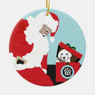 Operation Paws for Homes Dog Rescue Round Ornament