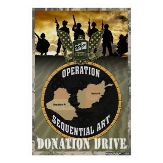 Operation Sequential Art: Donation Drive Poster
