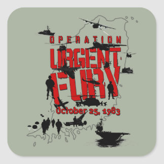 Operation Urgent Fury action sticker