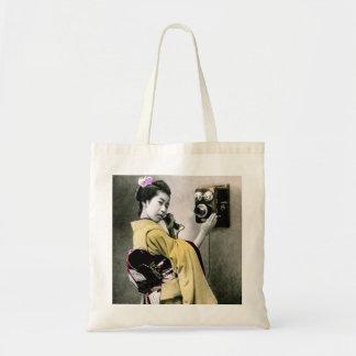 Operator Wont You Help Me Make This Call Geisha Tote Bag