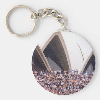 operausday basic round button keychain