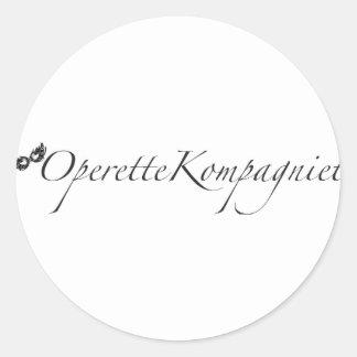 OperetteKompagniet Denmark Classic Round Sticker