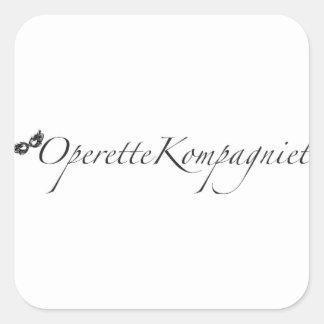 OperetteKompagniet Denmark Square Sticker