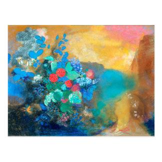 Ophelia Among the Flowers   Odilon Redon Postcard