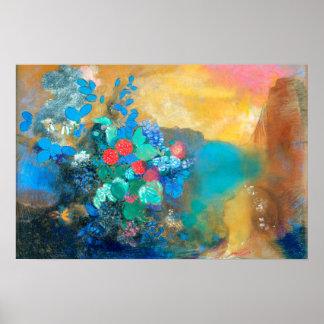 Ophelia Among the Flowers   Odilon Redon Poster