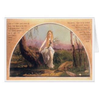 Ophelia, Arthur Hughes, 1852 Card