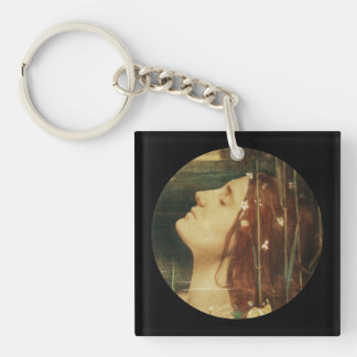 Ophelia Asleep in the Flowers Single-Sided Square Acrylic Keychain
