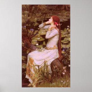 Ophelia by John William Waterhouse Poster