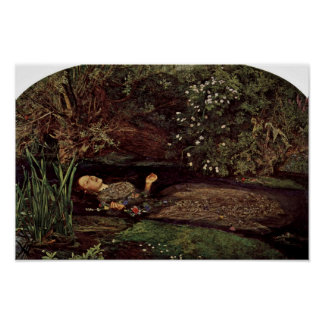 Ophelia By Millais, John Everett (Best Quality) Poster