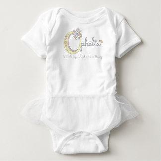 Ophelia girls name meaning O monogram hearts Baby Bodysuit