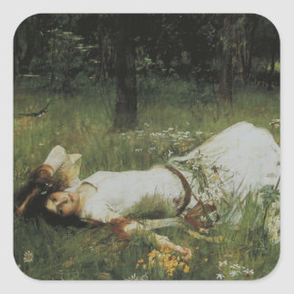Ophelia [John William Waterhouse] Square Sticker