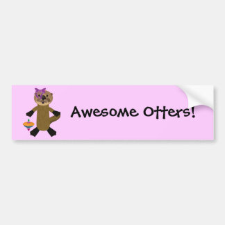 Ophelia Otter Bumper Sticker