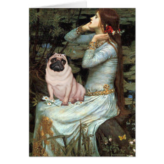 Ophelia - Pug 17 - fawn Card
