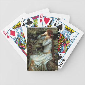 Ophelia seated - add your pet bicycle playing cards