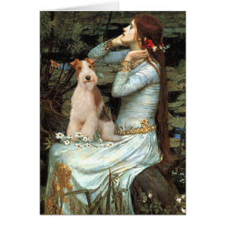 Ophelia Seated - Wire Fox Terrier 3 Card