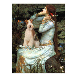 Ophelia Seated - Wire Fox Terrier 3 Postcard