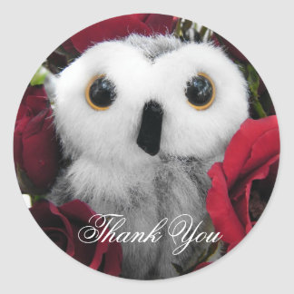 Ophelia & The Vintage Roses - Thank You Classic Round Sticker