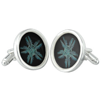 Ophiodea in Turquoise and Black Cufflinks