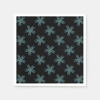 Ophiodea in Turquoise and Black Paper Napkin