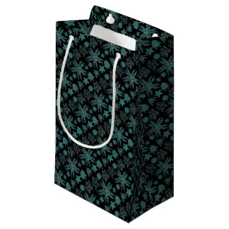 Ophiodea in Turquoise and Black Small Gift Bag