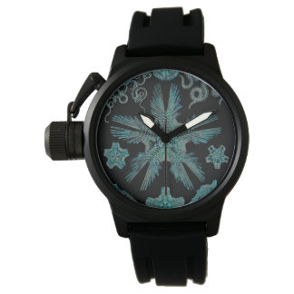 Ophiodea in Turquoise and Black Wristwatches