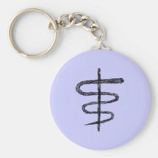 Ophiuchus. Astrological Zodiac Sign. Black. Key Chain