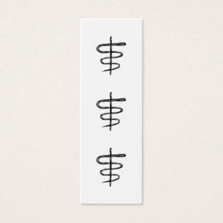 Ophiuchus. Astrological Zodiac Sign. Black. Mini Business Card