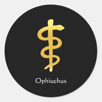 Ophiuchus (Nov. 29 - Dec. 17) Round Sticker