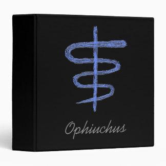 Ophiuchus. Zodiac Sign in Blue. Binder