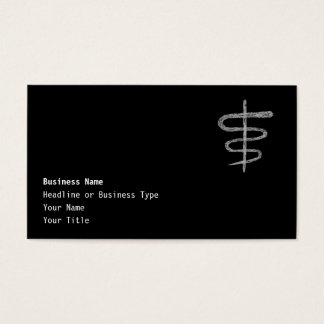Ophiuchus. Zodiac Sign in Gray. Business Card