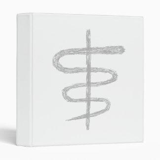 Ophiuchus. Zodiac Sign in Gray. Vinyl Binder