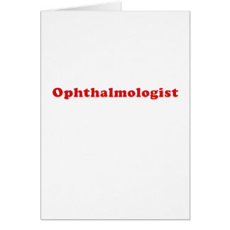 Ophthalmologist Card