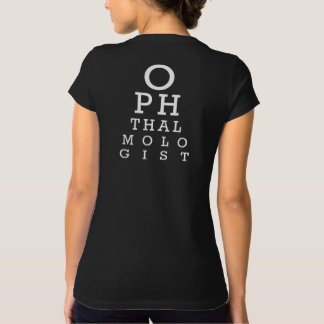 Ophthalmologist Lady Eye Doctor Vision Chart Funny T-Shirt