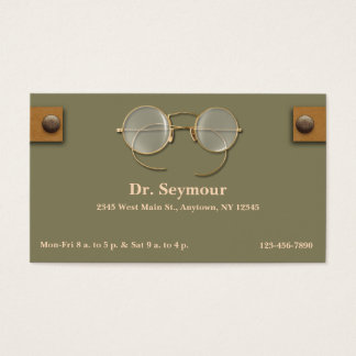 Ophthalmologist, Optometrist, Optician for Eyes Business Card