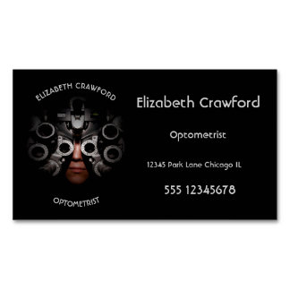 Ophthalmologist Optometrist Optician Test Vision Magnetic Business Card