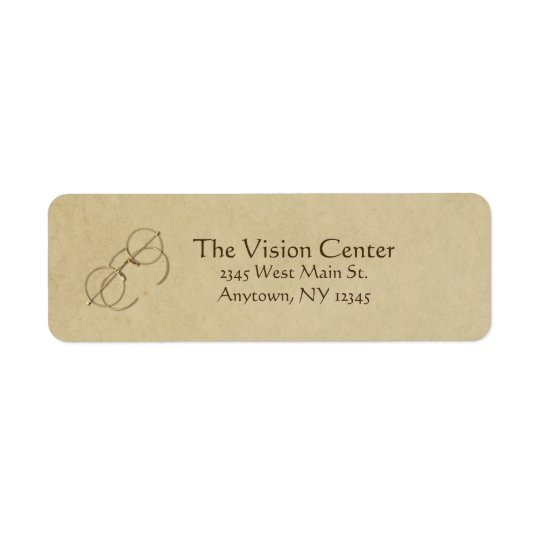 Ophthalmologist, Optometrist or Optician Practice Return Address Label