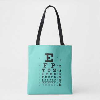 Ophthalmology Eye Chart Science Pop Art Ice Blue Tote Bag